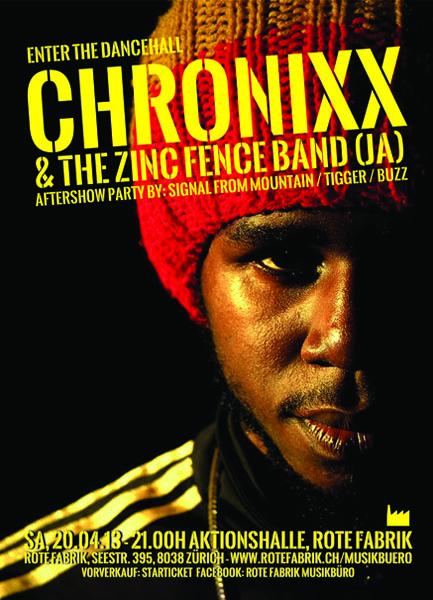 Chronixx Plakat Zürich