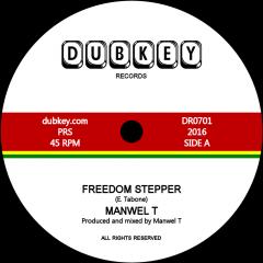 """Manwel T """"Freedom Stepper""""/""""Freedom Dub"""" (Dubkey Records)"""