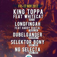 Rebel Vibes feat. King Toppa & Whitecat, Longfingah & Hardy Digital u.a., Panke, Berlin, 17.11.17