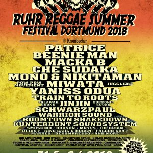 Da haben sie sich festgelegt, so früh rechnete man gar nicht damit. Die Headliner beim RRS in Dortmund sind über das mancherorts lange Wochenende ab Fronleichnam (31.5.) der Dancehall-Star Beenie...