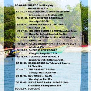 Jamburg – Reggae, Dancehall und Dub im Juli Auch wenn überall Festivals locken – die Jamburger müssen nicht um ihre gewohnte Vielfalt bangen! Wir präsentieren auch im Juli Events und...