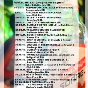 Jamburg im November Auch im November gibt es wieder ein vielfältiges Angebot in Sachen Reggae, Dancehall, Dub und Ska in Hamburg. Von kleineren bis hin zu großen Locations wird so...