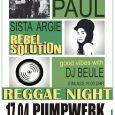 Am 17.04.2020 steigt die erste Reggae Night im Pumpwerk Wilhelmshaven. Zu Gast sind gleich zwei talentierte Live Bands. Die für den popNRW-Preis nominierten Schwarzpaul und die friesische Newcomerin Sista Argie...