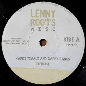 "Kardi Tivali & Gappy Ranks ""Exercise"""" – 7 Inch (Lenny Roots Wise/Eleven Seven Records – 2020) Nach der großartigen 12 Inch von Anthony B feat. Lutan Fyah ""Keep On Trying"",..."