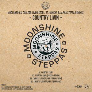 "Modi Bardo & Carlton Livingston ""Country Livin"" feat. Bukkha & Alpha Steppa – 12 Inch (Moonshine Recordings/Steppas Records – 2020) Die Kooperation von Moonshine Recordings und Steppas Records liegt nahe,..."